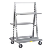 Little Giant® Adj. Tray A-Frame Shelf Truck with Bottom Shelves AFSF-3640-6PH - 40 x 36 x 67