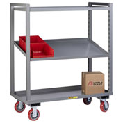 Little Giant® Adjustable Height Multi-Shelf Truck AM-2A-2448-6PY - 2 Adjustable Shelves 48 x 24