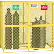 "Little Giant® Gas Cylinder Cabinet GSU2-72W-70H Vertical Labelled Compartments 72""Wx38""Dx70""H"