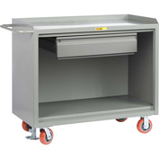 "Little Giant MB-2448-HDFL  48"" W Mobile Bench Cabinets, Floor Lock, Heavy Duty Drawer"