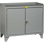 "Little Giant® Counter Height Bench Cabinet MB3-LL-2D-2448 - 48""W x 24""D Solid Doors"