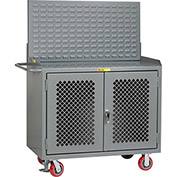 """Little Giant MBP2D-FL-LP 48""""W x 24""""D Mobile Service Bench with Powder Coated Steel Top"""