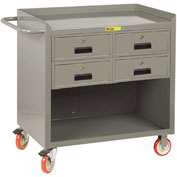 "Little Giant MC-2436-4DRTL  36"" W Mobile Bench Cabinet, 4 Drawers"