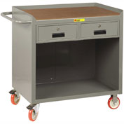 "Little Giant MCH-2436-2DRTL  36"" W Mobile Bench Cabinet, 2 Drawers, Hardboard Top"