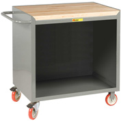 "Little Giant MCJ-2436TL  36"" W Mobile Bench Cabinet, Butcher Block Top"