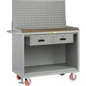 "Little Giant MH-2448-2DRFLLP 48""W x 24""D Mobile Service Bench, 2 Drawers, 1/4"" Hardboard Top"