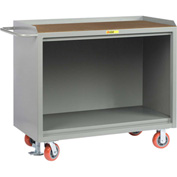 "Little Giant MH-2448-FL   48"" W Mobile Bench Cabinets, Floor Lock, Hardboard Top"