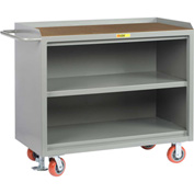 "Little Giant MH3-2448-FL  48"" W Mobile Bench Cabinets, Center Shelf, Hardboard Top"