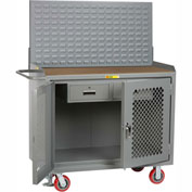 "Little Giant MHP2D-2DRFL-LP 48""W x 24""D Mobile Service Bench, 2 Drawers, 1/4"" Hardboard Top"