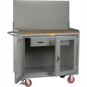 "Little Giant MHP2D-2DRFL-PB 48""W x 24""D Mobile Workbench, 2 Drawers, 1/4"" Hardboard Top"
