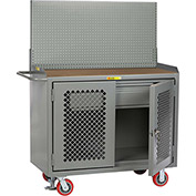"Little Giant MHP2D-HDFL-PB 48""W x 24""D Mobile Workbench, Drawer, 1/4"" Hardboard Top"