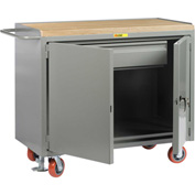 "Little Giant MJ-2D-2448-HDFL  48"" W Mobile Bench Cabinets, Heavy-Duty Drawer, 2 Doors"