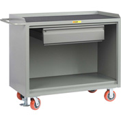 "Little Giant MM-2448-HDFL  48"" W Mobile Bench Cabinets, Heavy-Duty Drawer, Non-Slip Vinyl Top"