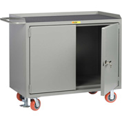 "Little Giant MM-2D-2448-FL  48"" W Mobile Bench Cabinets,  Non-Slip Vinyl Top, 2 Doors"