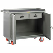 "Little Giant MM2D-2448-2DRFL  48"" W Mobile Bench Cabinets, Double Storage Drawers, 2 Doors"