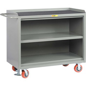 "Little Giant MM3-2448-FL  48"" W Mobile Bench Cabinets, Center Shelf, Non-Slip Vinyl Top"