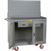 "Little Giant MMP2D-2DRFL-LP 48""W x 24""D Mobile Service Bench, 2 Drawers, Non-Slip Vinyl Top"