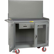 "Little Giant MMP2D-2DRFL-PB 48""W x 24""D Mobile Workbench, 2 Drawers, Non-Slip Vinyl Top"