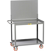 "Little Giant® Mobile Workstation MW-2448-5TL-PB With Pegboard Panel 24"" x 48"" 1200 Lbs. Cap."