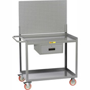 "Little Giant® Mobile Workstation MW2436-5TL-DRPB With Pegboard Panel 24"" x 36"" 1 Drawer"