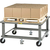 "Little Giant® Ergonomic Adjustable Height Pallet Stand PDE-4248-6PH2FL - 42"" x 48"""