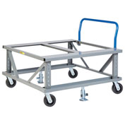 Little Giant® Ergonomic Adj. Height Pallet Stand with Handle PDEH4848-6PH2FL - Open Deck 48x48