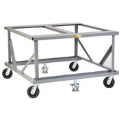 Little Giant® Fixed Height Mobile Pallet Stand PDF-4248-6PH2FL - 48 x 42 Open Deck