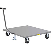 Little Giant® Pallet Dolly PDST-4048-6PHFL with T-Handle - Solid Deck 40 x 48 & Floor Lock