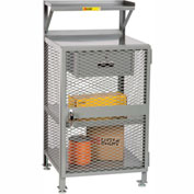 """Little Giant PSX-2224-LLDR Enclosed Shop Desk, 22""""' x 24"""", Storage Drawer, 2000 lbs. Capacity"""