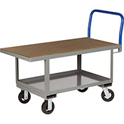 Little Giant® Work Height Platform Truck RNH2-2460-6MR with Lower Shelf 24 x 60 Fixed Height