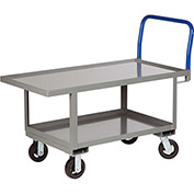Little Giant® Work Height Platform Truck RNL2-2448-6MR-AH with Lower Shelf 24 x 48 Adj. Height