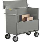 "Little Giant® Security Box Truck SBS-2448-10SR Solid Sides 24 x 48 with 10"" Solid Rubber Wheels"