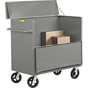 "Little Giant® Security Box Truck SBS-3060-6MR Solid Sides 30 x 60 with 6"" Mold-on Rubber Wheels"