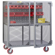 "Little Giant Mobile Tool Security Cabinet SC1-2460-6PY-LP - 60"" x 24"", Louvered Panel,1 Center Shelf"
