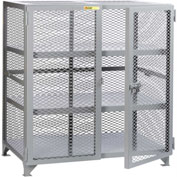 "Little Giant® Welded Storage Locker w/2 Center Shelves, Mesh Sides, 73""W x 39""D x 52""H"