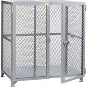 "Little Giant® Welded Storage Locker, Mesh Sides, 73""W x 33""D x 52""H"