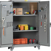 "Little Giant® Pegboard Storage Cabinet SSL2-A-2448-PBD 12 Gauge 48""W x 24""D x 78""H 2 Shelves"