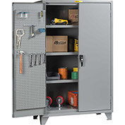 "Little Giant® Pegboard Storage Cabinet SSL3-A-2460-PBD 12 Gauge 60""W x 24""D x 78""H 3 Shelves"