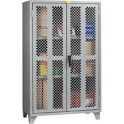 "Little Giant® High Visibility Storage Cabinet w/ 2 Adj. Shelves, 60""W x 26""D x 78""H"