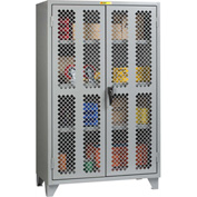 "Little Giant® High Visibility Storage Cabinet w/ 3 Adj. Shelves, 60""W x 32""D x 78""H"