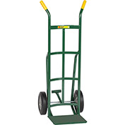 "Little Giant® Reinforced Nose Hand Truck TF-220-10 - 10"" Rubber with Foot Kick & Dual Handle"