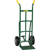 Little Giant® Reinforced Nose Hand Truck TF-220-10FF - Flat-Free with Foot Kick & Dual Handle