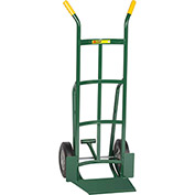 "Little Giant® Shovel Nose Hand Truck TF-362-10 - 10"" Rubber with Foot Kick & Dual Handle"
