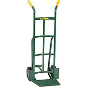"Little Giant® Shovel Nose Hand Truck TF-362-8S - 8"" Rubber with Foot Kick & Dual Handle"