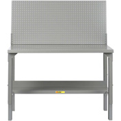 "Little Giant WA-2848-PB 48""W x 28""D Welded Workbench, Backstop, Pegboard Panel,  Adjustable Height"