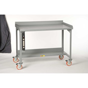 "Little Giant WM-2848-P Mobile Welded Workbenches w/ Back Stop, 28"" x 48"""
