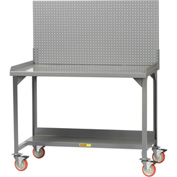"Little Giant WM-2848-PB  Mobile Workbench, Backstop, Pegboard Panel, 28"" D x 48"" W x 36"" H"