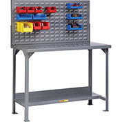 "Little Giant WST2-2448-36-LP 48""W x 24""D Fixed Height Welded Steel Workbench, Lower Shelf"