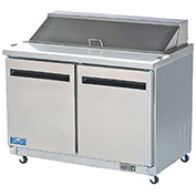 "Arctic Air AMT48R Sandwich/Salad Prep Table, 2 Door, White, 12 Cu. Ft., 48-1/4""W x 43-1/3""H"