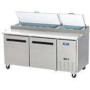 "Arctic Air APP71R - Pizza Prep Table, 2 Door, White, 21 Cu. Ft., 71""W x 32-1/4""D x 41""H"